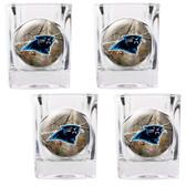 Carolina Panthers 4pc Square Shot Glass Set