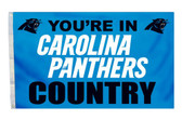 Carolina Panthers 3'x5' Country Design Flag