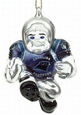 "Carolina Panthers 3"" Crystal Halfback Ornament"