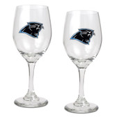 Carolina Panthers 2pc Wine Glass Set