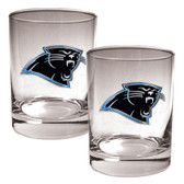 Carolina Panthers 2pc Rocks Glass Set