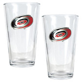 Carolina Hurricanes 2pc Pint Ale Glass Set