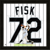 Carlton Fisk Chicago White Sox 20x20 Framed Uniframe Jersey Photo