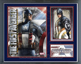 Captain America Matted Three Panel Movie Collectible Framed Photo
