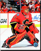 Calgary Flames Jonas Hiller 2014-15 Action 20x24 Stretched Canvas AARL036-249