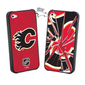 Calgary Flames iPhone 4/4S NHL  Broken Glass Lenticular Case