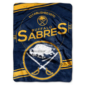 "Buffalo Sabres 60""x80"" Royal Plush Raschel Throw Blanket - Stamp Design"