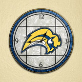 "Buffalo Sabres 12"" Art Glass Clock"
