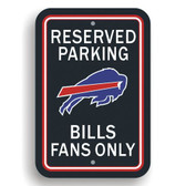Buffalo Bills Plastic Parking Sign - Reserved Parking