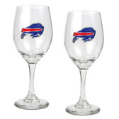 Buffalo Bills 2pc Wine Glass Set