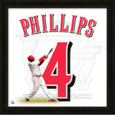 Brandon Phillips Cincinnati Reds 20x20 Framed Uniframe Jersey Photo 2