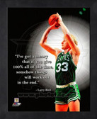 Boston Celtics Larry Bird 8x10 Framed Pro Quote Photo