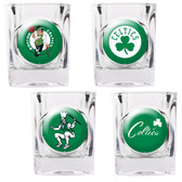 Boston Celtics 4pc Square Shot Glass Set