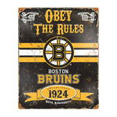 Boston Bruins Vintage Metal Sign