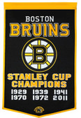 "Boston Bruins 24""x36"" Wool Dynasty Banner"