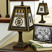 """Boston Bruins 14"""" Art Glass Table Lamp"""
