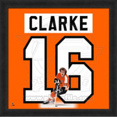 Bobby Clarke Philadelphia Flyers 20x20 Framed Uniframe Jersey Photo
