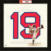 Bob Feller Cleveland Indians 20x20 Framed Uniframe Jersey Photo