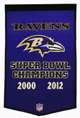 "Baltimore Ravens 24""x36"" Wool Dynasty Banner"