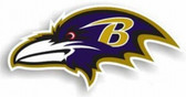 "Baltimore Ravens 12"" Left Logo Car Magnet"