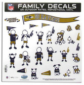 "Baltimore Ravens 11""x11"" Family Decal Sheet"
