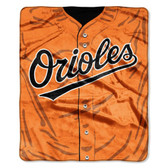 "Baltimore Orioles 50""x60"" Royal Plush Raschel Throw Blanket - Jersey Design"