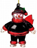 "Atlanta Falcons 2 3/4"" Crystal Snowman Ornament"