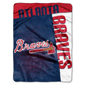 "Atlanta Braves 60""x80"" Royal Plush Raschel Throw Blanket - Strike Design"