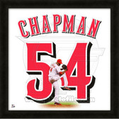 Aroldis Chapman Cincinnati Reds 20x20 Framed Uniframe Jersey Photo