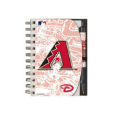 Arizona Diamondbacks Deluxe Hardcover 4x6 Notebook & Pen Set (Grip)