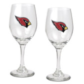 Arizona Cardinals 2pc Wine Glass Set