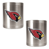 Arizona Cardinals 2pc Stainless Steel Can Holder Set