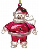 "Arizona Cardinals 2 3/4"" Crystal Snowman Ornament"