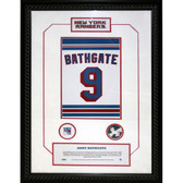 Andy Bathgate #9 Retired Number NY Rangers 14x20 Framed Collage w/ Nameplate