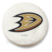 Anaheim Ducks White Tire Cover, Large