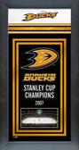 Anaheim Ducks Framed Championship Banner