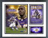 Adrian Peterson 2007 Minnesota Vikings 296 Rushing Yards Milestones & Memories Framed Photo
