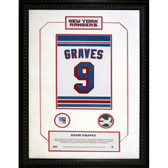 Adam Graves #9 Retired Number NY Rangers 14x20 Framed Collage w/ Nameplate