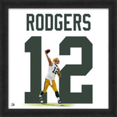 Aaron Rodgers Green Bay Packers 20x20 Framed Uniframe Jersey Photo AAOR045