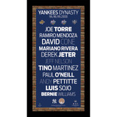96 98 99 00 New York Yankees Champs Player Names Subway Sign Wall Art 9.5x19 Photo w/ Authentic Dirt from Yankee Stadium