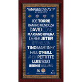 96 98 99 00 New York Yankees Champs Player Names Subway Sign Wall Art 16x32 Photo w/ Authentic Dirt from Yankee Stadium