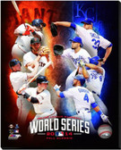 2014 World Series 40x50 Stretched Canvas 2014 MLB World Series Match Up Composite San Francisco Giants vs. Kansas City Royals