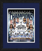 2014 Seattle Seahawks Super Bowl 48 Champs Composite Matted and Framed