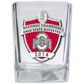Ohio State Buckeyes 2014 National Champions Square Shot Glass