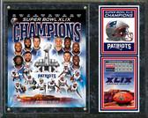 """Super Bowl XLIX Champions New England Patriots Composite Plaque 15"""" x 12"""""""