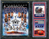 "Super Bowl XLIX Champions New England Patriots Composite Plaque 15"" x 12"""