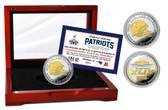 New England Patriots Super Bowl XLIX Champions Two-Tone Mint Coin