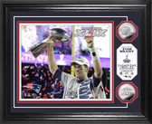 "Tom Brady Super Bowl XLIX Champion ""Trophy"" Silver Coin Photo Mint"