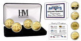 New England Patriots 4-time Super Bowl Champions Gold Coin Set