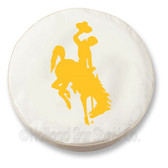 Wyoming Cowboys White Tire Cover, Small